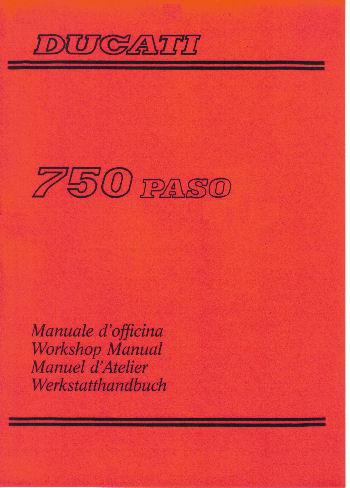 Ducati Paso Workshop Manual