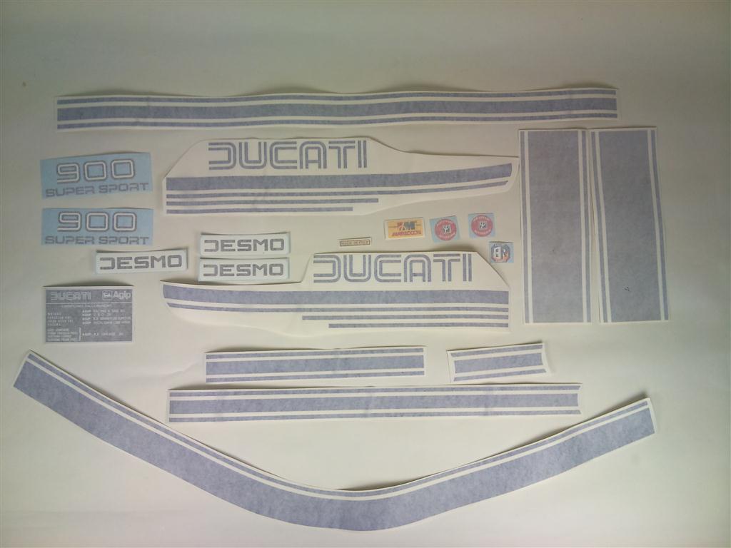 Ducati Bevel 900ss 78 Decal Kit Blue Silver Gowanloch