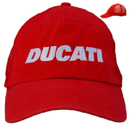 79f2627d6 Ducati Mesh Cap C3 with White Block Embroidery