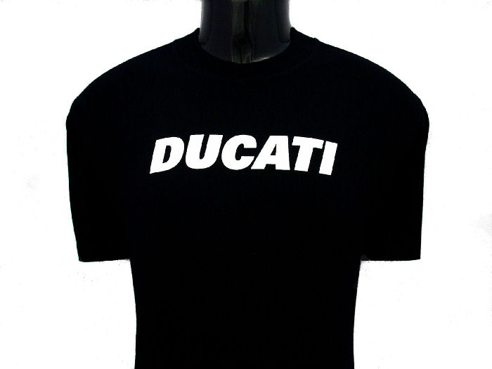 ducati t shirt mens block t6 black gowanloch ducati. Black Bedroom Furniture Sets. Home Design Ideas