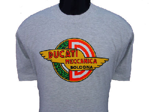ducati t shirt mens meccanica t7 grey gowanloch ducati. Black Bedroom Furniture Sets. Home Design Ideas