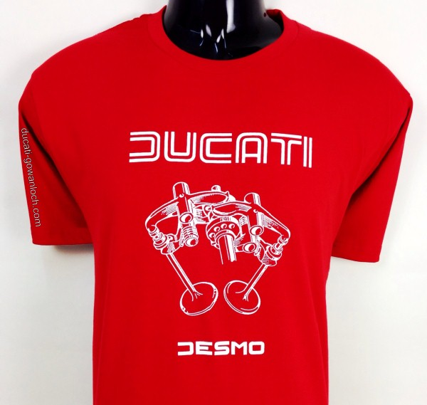 ducati t shirt mens valve picture t3 red with white print gowanloch ducati. Black Bedroom Furniture Sets. Home Design Ideas