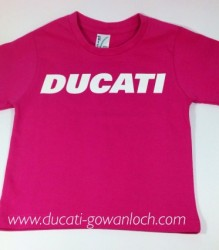 Ducati T-Shirt Infant Block K6 Hot Pink