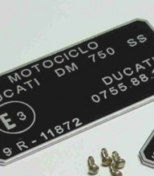 0755.88.130 DM750 SuperSport Squarecase Homologation Plate