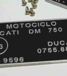 DM750 Sport/GT Roundcase Homologation Plate -0755.88.130