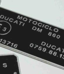 0759.88.130 DM860 860/900 Squarecase Homologation Plate