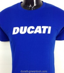 Ducati T-Shirt Mens Block T6 Royal Blue