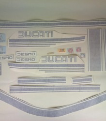 Ducati Bevel 900SS '78 Decal Kit – Blue/Silver