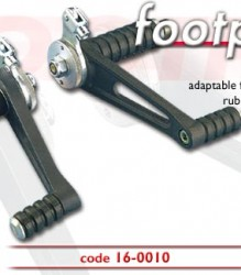 Tarozzi Riders Footrest Kit Rubber/Straight