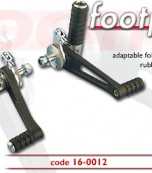 Tarozzi Riders Footrest Kit Rubber/Folding