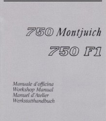 Ducati 750 Monjuich / 750 F1 Workshop Manual