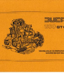 Ducati 860 GT-GTS Workshop Manual