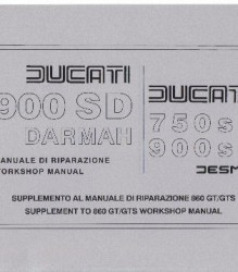 Ducati 900SD/750SS/900SS Workshop Manual