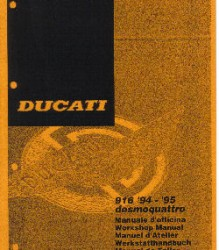 Ducati 916 '94-'95 Workshop Manual