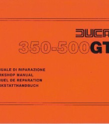 Ducati 350-500 GTL '74 Workshop Manual