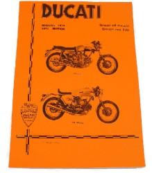 Ducati 750 GT/Sport '74 Spare Parts Manual