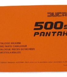 Ducati 500SL Pantah Spare Parts Manual