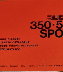 Ducati 350-500 Sport Spare Parts Manual