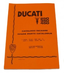 Ducati 250/350/450 Widecase Singles (Frame only) Spare Parts Manual