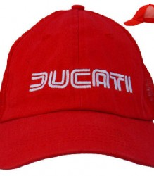 Ducati Mesh Cap C3 with White TwinLine Embroidery