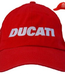 Ducati Mesh Cap C3 with White Block Embroidery