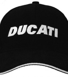 Ducati Cap C2 with White Block Embroidery