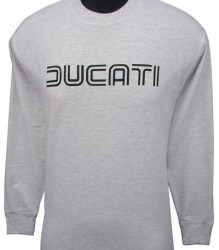 Ducati Long Sleeve Mens Lg TwinLine L1 Grey