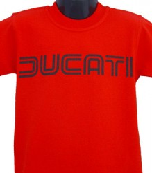 Ducati T-Shirt Kids Lg TwinLine K1 Red