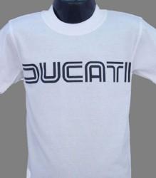 Ducati T-Shirt Kids Lg TwinLine K1 White
