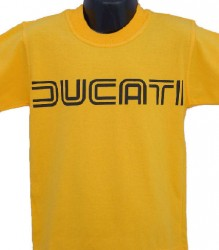 Ducati T-Shirt Kids Lg TwinLine K1 Yellow