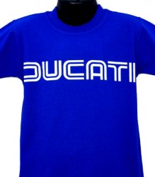 Ducati T-Shirt Kids Lg TwinLine K1 Royal