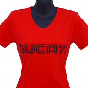ducatitshirtwomansvneckw1red