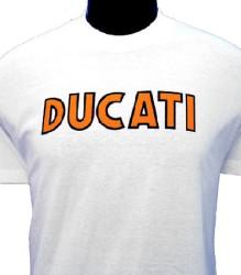 Ducati T-Shirt Mens Singles T2 White