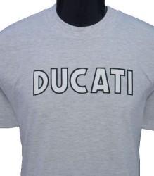 Ducati T-Shirt Mens Singles T9 Grey