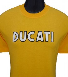 Ducati T-Shirt Mens Singles T9 Gold