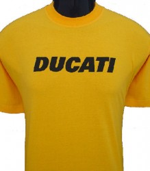 Ducati T-Shirt Mens Block T6 Gold