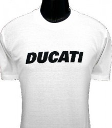 Ducati T-Shirt Mens Block T6 White