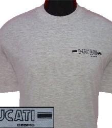 Ducati T-Shirt Mens Small Round Desmo T5 Grey