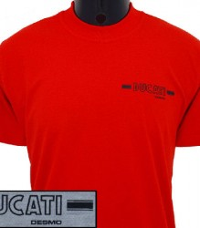 Ducati T-Shirt Mens Small Round Desmo T5 Red