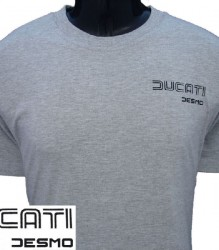 Ducati T-Shirt Mens Sm TwinLine Desmo T4 Grey
