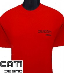 Ducati T-Shirt Mens Sm TwinLine Desmo T4 Red