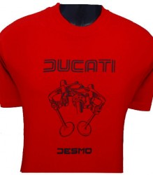 Ducati T-Shirt Mens Valve Picture T3 Red (Limited Stock)