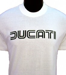 Ducati T-Shirt Mens Lg TwinLine T1 White