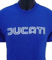 Ducati T-Shirt Mens Lg TwinLine T1 Blue