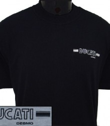 Ducati T-Shirt Mens Small Round Desmo T5 Black