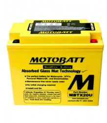 MBTX20U Motobatt Motorcycle Battery