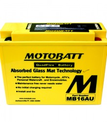 MB16AU Motobatt Motorcycle Battery