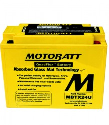 MBTX24U Motobatt Motorcycle Battery