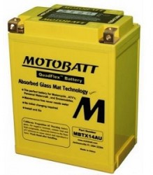 MBTX14AU Motobatt Motorcycle Battery
