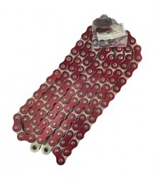 EK 520 RXO QX-Ring Heavy Duty 120L Chain – Red – 14-520RXOM-120